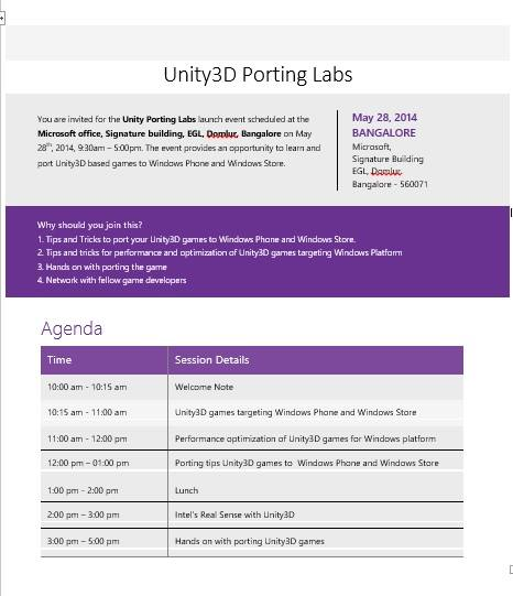 Porting labs